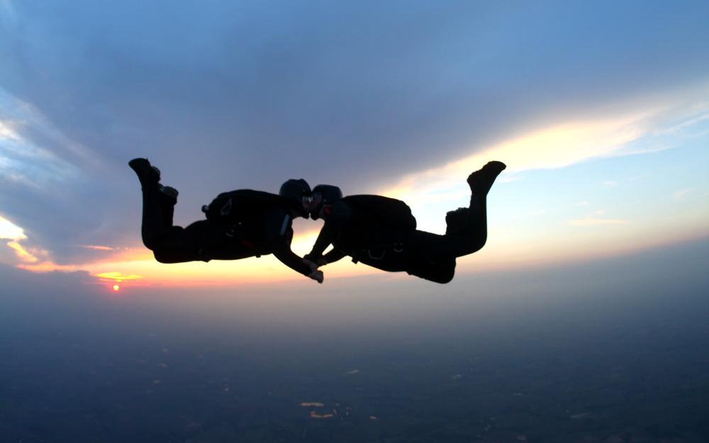 matrimonio en paracaidas